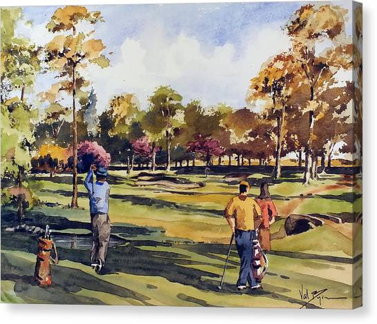 Golf In Ireland Canvas Print