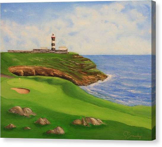 Golf Old Head Of Kinsale Canvas Print by Jacob Browning