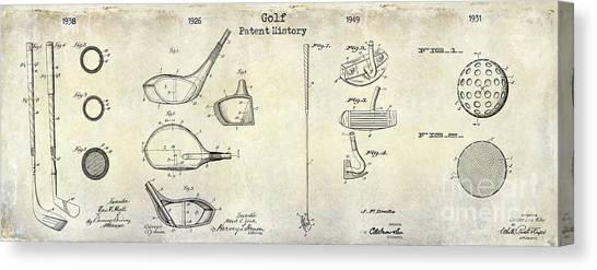 Pga Canvas Print - Golf Patent History Drawing by Jon Neidert