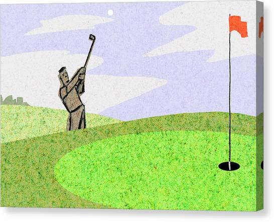 Hole In One Canvas Print - Golf by Steve Dininno