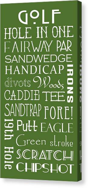 Golf Terms Canvas Print