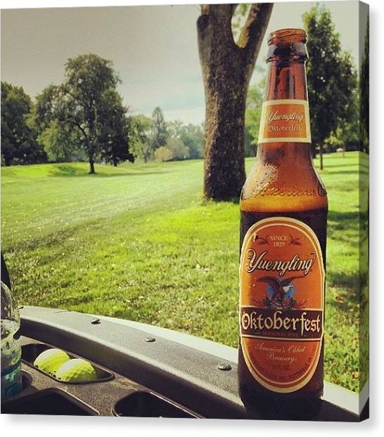 Golf Canvas Print - #golf #yuengling by Chase Budurka