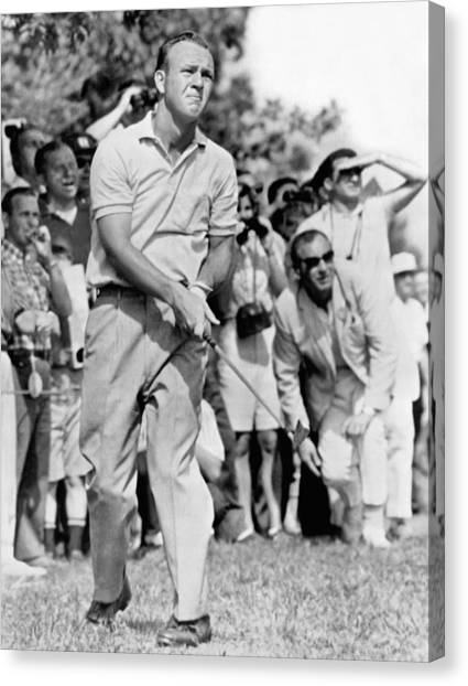Golf Course Canvas Print - Golfer Arnold Palmer by Underwood Archives