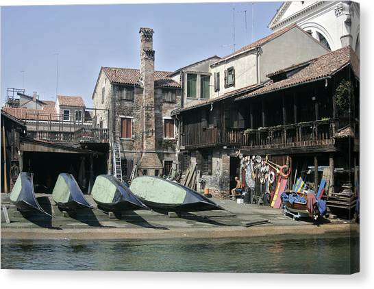 Gondola Showroom Canvas Print