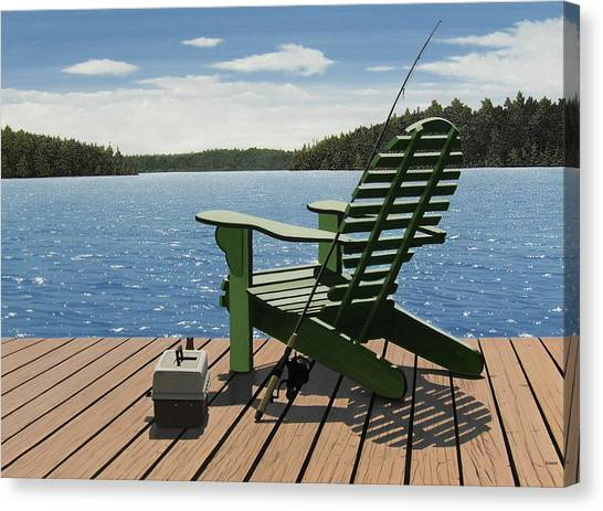 Gone Fishing Aka Fishing Chair Canvas Print