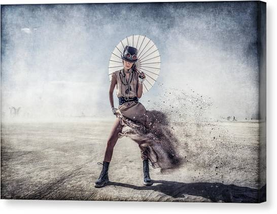 Dust Canvas Print - Gone With The Wind by Gilles Bonugli Kali
