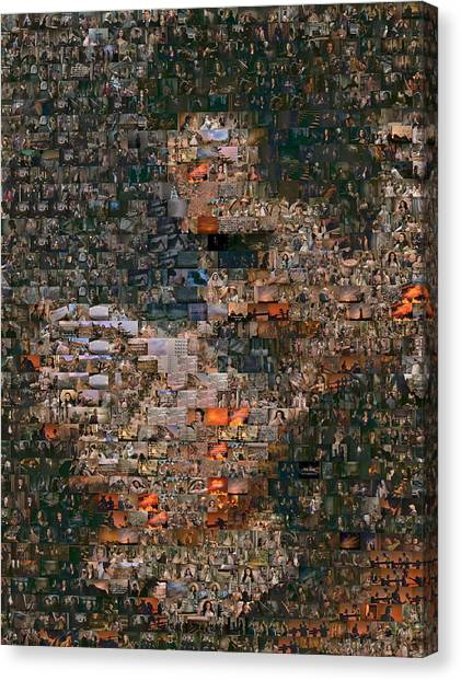 Gone With The Wind Canvas Print - Gone With The Wind Scene Mosaic by Paul Van Scott