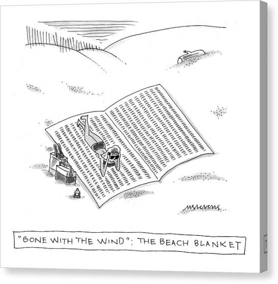 Gone With The Wind Canvas Print - Gone With The Wind: The Beach Blanket by Mick Stevens