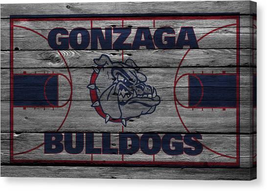 Ball State University Canvas Print - Gonzaga Bulldogs by Joe Hamilton