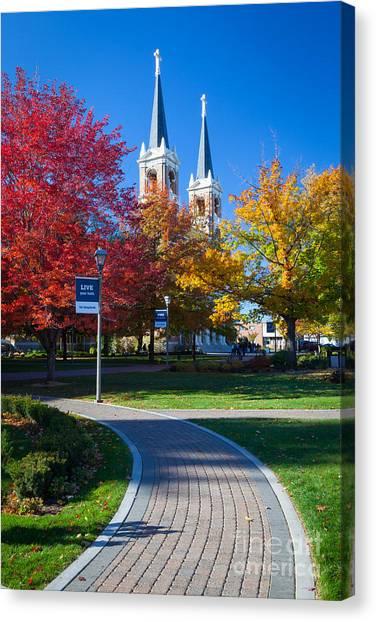 Washington State University Canvas Print - Gonzaga Pathway by Inge Johnsson