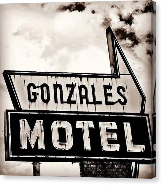 Love Canvas Print - Gonzales Motel by Scott Pellegrin