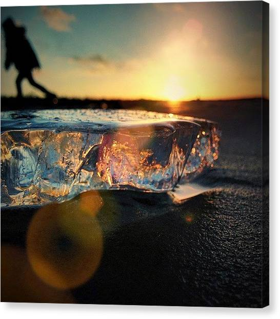 Ocean Sunrises Canvas Print - Good Bye by Raimond Klavins