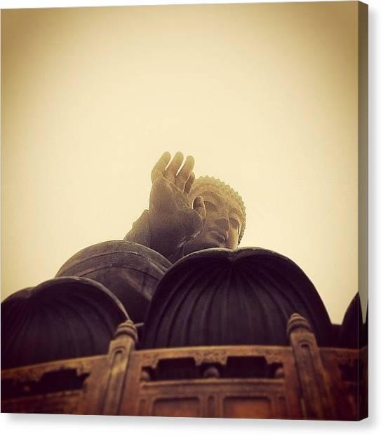 Milk Canvas Print - Good Day To Visit The Big Buddha by Milk Spoon
