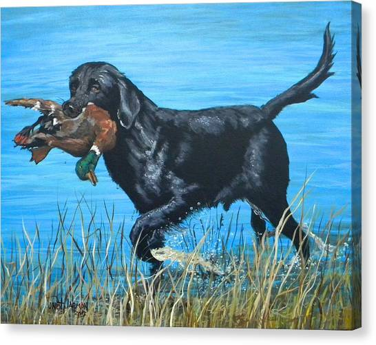 Canvas Print featuring the painting Good Dog by Jeanette Jarmon