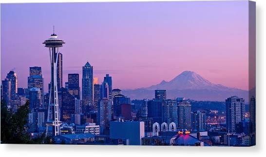 Good Evening Seattle Canvas Print