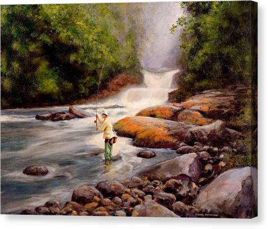 Artist Michael Swanson Canvas Print - Good Fishing Sold by Michael Swanson