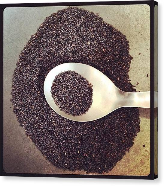 Roast Canvas Print - Good For Health :) 'black Sesame' by Dejavu Petch