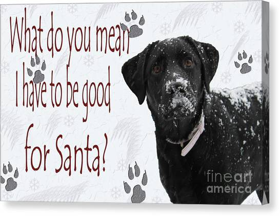 Good For Santa Canvas Print