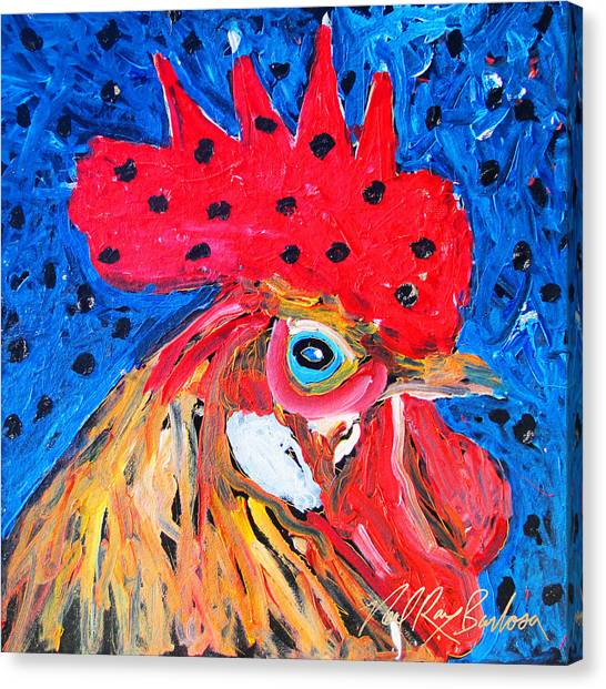 Good Luck Rooster Canvas Print