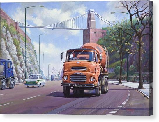 Ford Truck Canvas Print - Good Mixer by Mike Jeffries