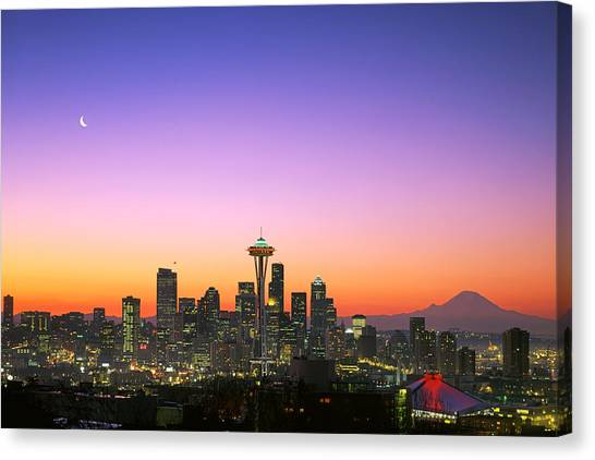 Seattle Canvas Print - Good Morning America. by King Wu