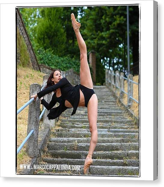 Ballerinas Canvas Print - Good Morning Dancers!back To Work Is by Marco Cappalunga