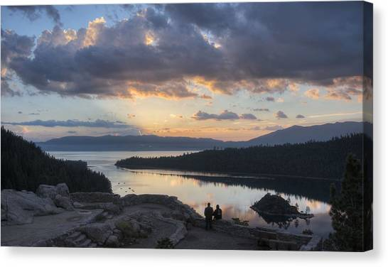Good Morning Emerald Bay Canvas Print