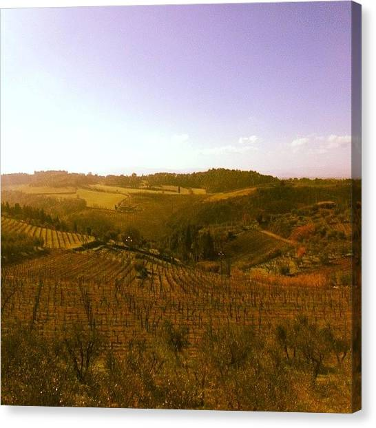 Valentines Day Canvas Print - #good #morning From #tuscany And Happy by Anna Cecilia Buono