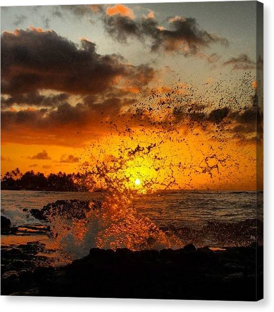 Ocean Sunrises Canvas Print - Good Morning, Hawaii! #hawaii #kauai by Brian Governale