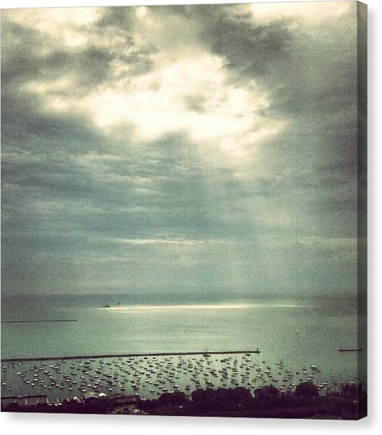 Lake Michigan Canvas Print - Good Morning by Jill Tuinier