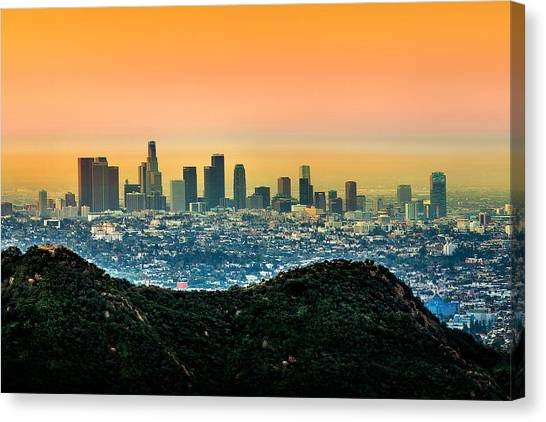 Symmetrical Canvas Print - Good Morning La by Az Jackson