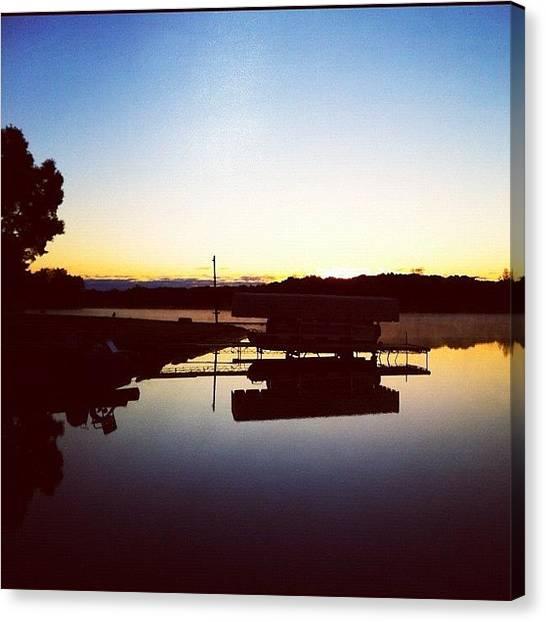 Lake Sunrises Canvas Print - Good #morning #lake :) #sunrise At The by Jill Bromenschenkel