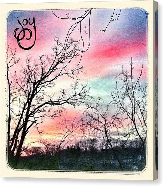 Beauty Canvas Print - Good Morning! #sky #sunrise #phonto by Teresa Mucha