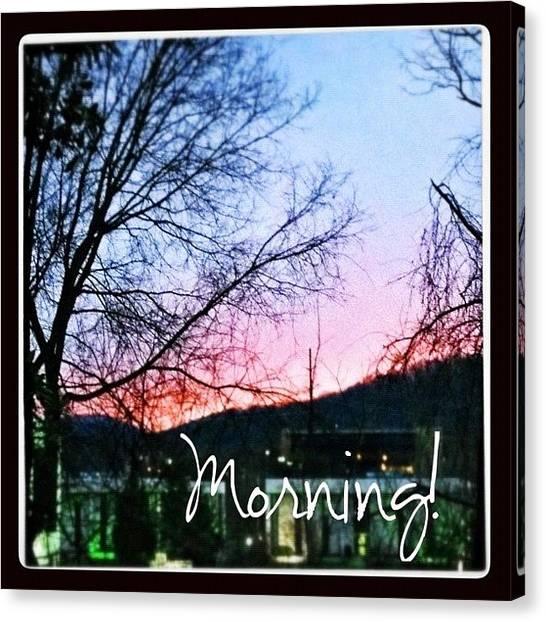 Virginia Canvas Print - Good Morning! #sunrise #morning by Teresa Mucha