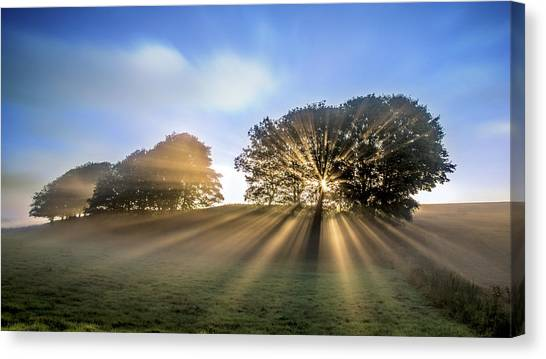 Countryside Canvas Print - Good Morning To A Great Day. by Leif L?ndal