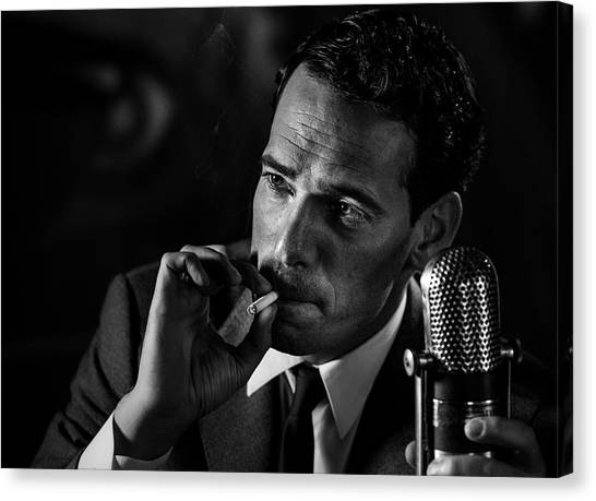 Microphones Canvas Print - Good Night And Good Luck ... (2) by Peter M?ller Photography