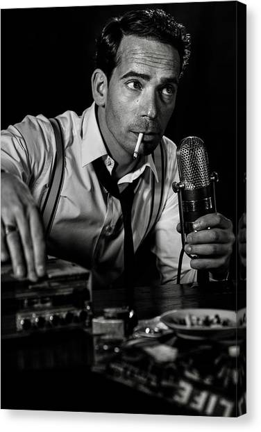 Microphones Canvas Print - ....good Night And Good Luck... by Peter M?ller Photography