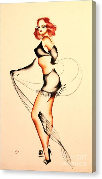 Good Night Ladies Dancer Canvas Print