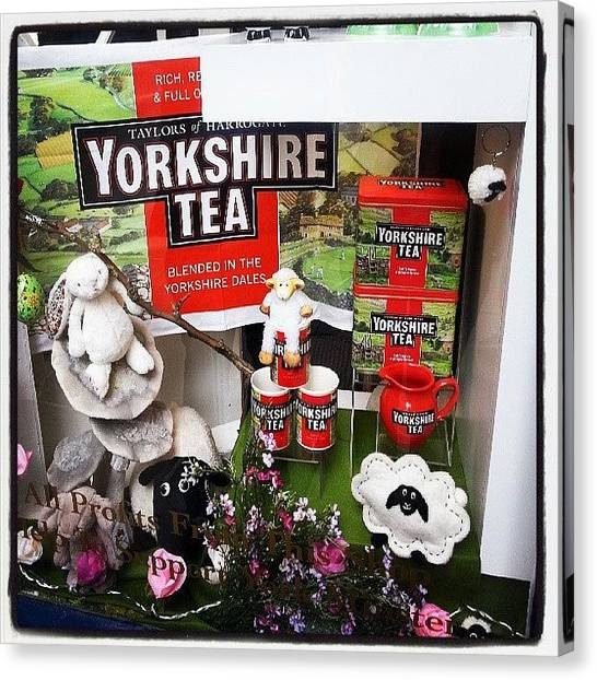 Tea Canvas Print - Good Old Yorkshire Tea #yorkshire #tea by Jenny Slaytor