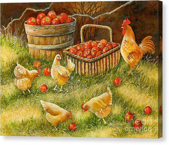Good Pickings Canvas Print by Val Stokes