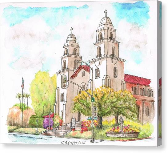Good Shepherd Catholic Church, Beverly Hills, California Canvas Print