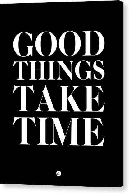 Hips Canvas Print - Good Things Take Time 1 by Naxart Studio