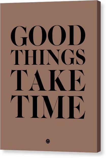 Hips Canvas Print - Good Things Take Time 3 by Naxart Studio