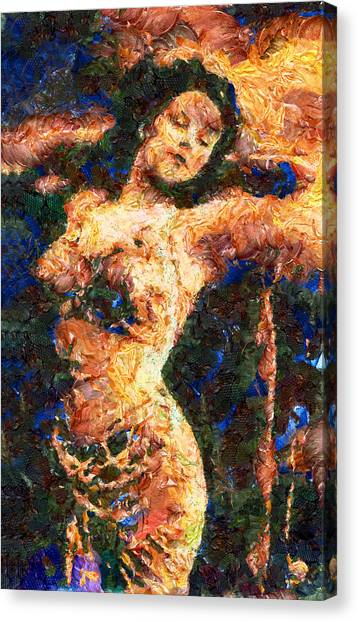 Abstract Expressionism Canvas Print - Good Time Girl - Abstract Expressionism by Georgiana Romanovna