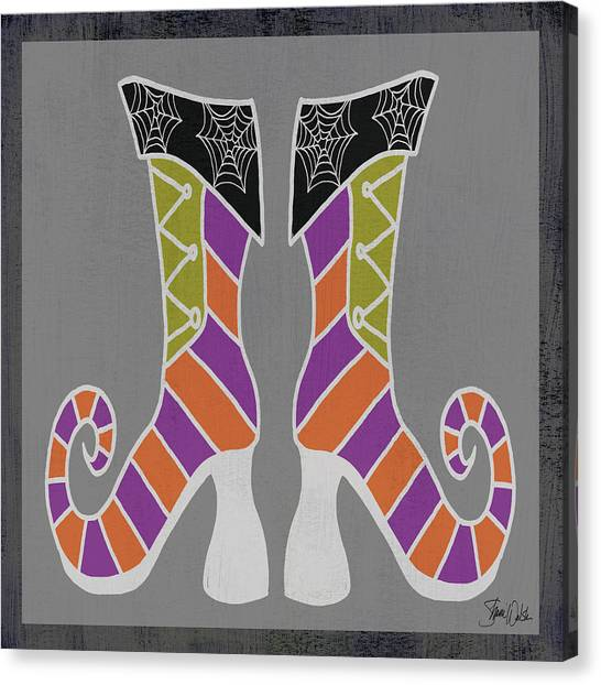 Halloween Canvas Print - Good Witch Boots 1 by Shanni Welsh