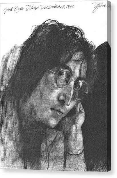 John Lennon Canvas Print - Goodbye John by David Lloyd Glover