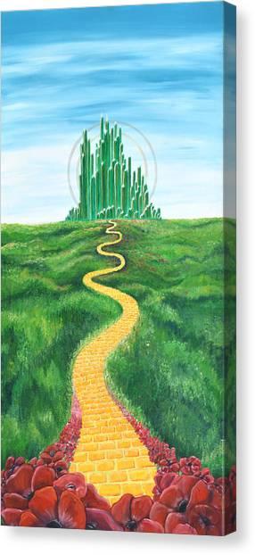 Goodbye Yellow Brick Road Canvas Print