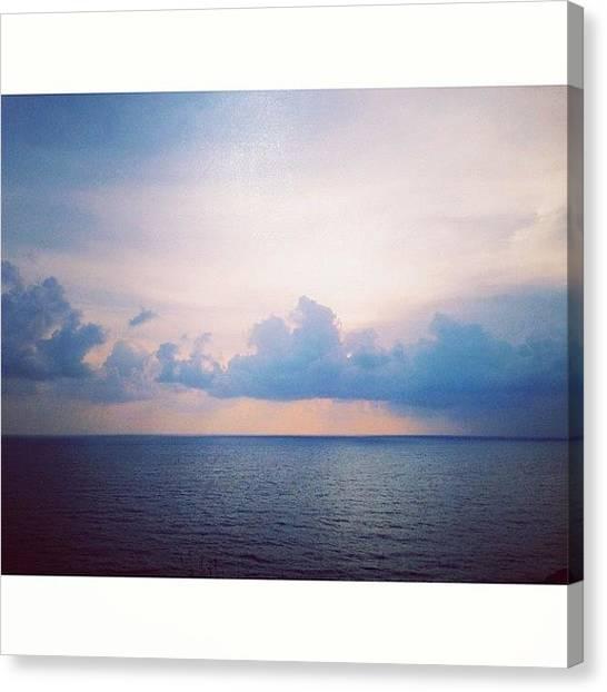 Sunrise Horizon Canvas Print - #goodmorning #goadiary #goa #instagoa by Angad B Sodhi