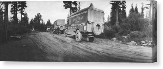 Caravan Canvas Print - Goodyear Wingfoot Express by Underwood Archives