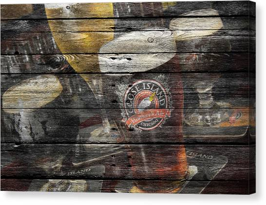 Beer Can Canvas Print - Goose Island by Joe Hamilton